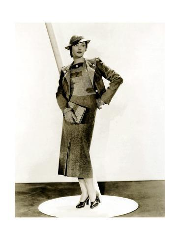 THIRTY DAY PRINCESS, Sylvia Sidney, in a suit by Howard Greer, 1934 Stretched Canvas Print