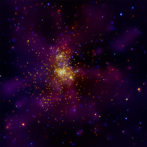 This Chandra X-ray Observatory Image Shows Westerlund 2, a Young Star Cluster Valokuvavedos