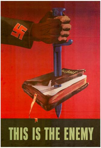 This is the Enemy Anti-Nazi WWII War Propaganda Art Print Poster Poster