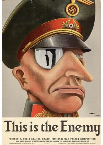 This is the Enemy Nazis WWII War Propaganda Art Print Poster Masterprint