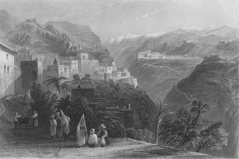 Der-El-Kamar, and the Palaces of Beteddein, 1837 Giclee Print
