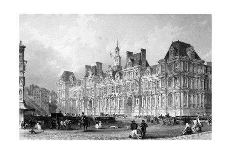 Paris Hotel de Ville Giclee Print