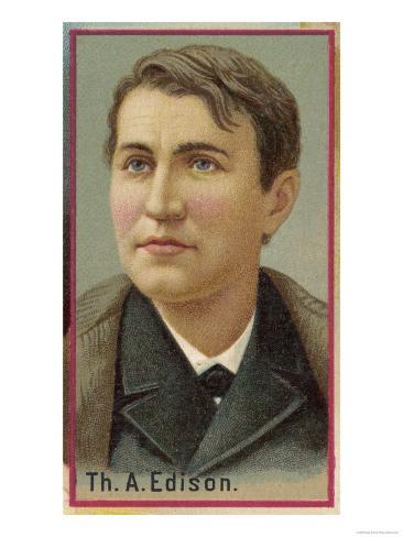 Thomas Alva Edison American Electrical Engineer and Inventor Giclee Print