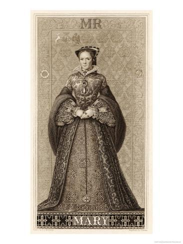 Mary Tudor Queen of England Daughter of Henry VIII and Catherine of Aragon Giclee Print