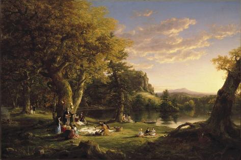 The Pic-Nic, 1846 Lámina giclée