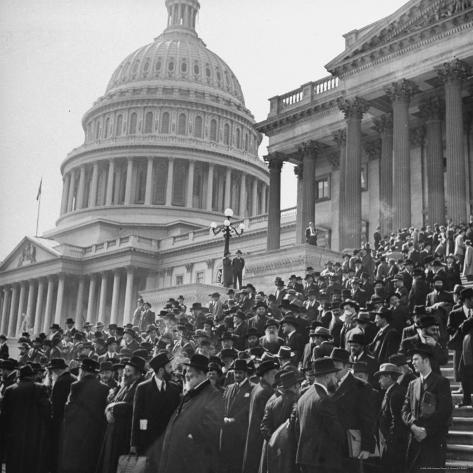 Jewish Rabbis March on Washington, on the Senate Steps Photographic Print