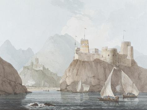 East View of the Forts Jellali and Merani, Muskah, Arabia, June 1793 Giclee Print