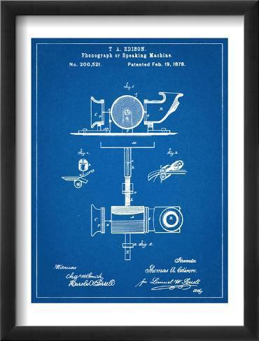 Thomas Edison Speaking Telegraph Patent Framed Art Print