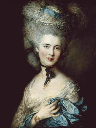 A Woman in Blue (Portrait of the Duchess of Beaufort) Art Print