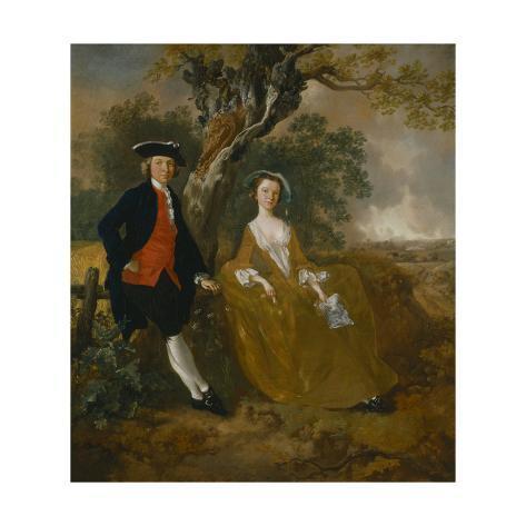 An Unknown Couple in a Landscape Lámina giclée