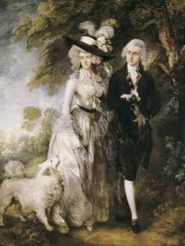 Mr and Mrs William Hallett ('The Morning Walk') Art Print