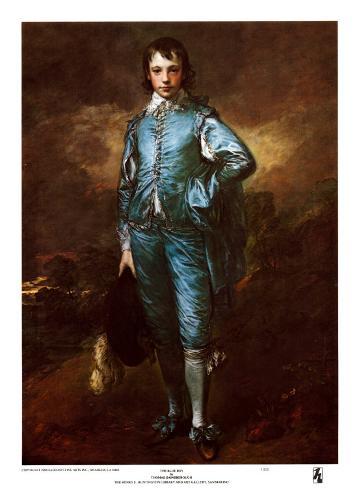 The Blue Boy Art Print