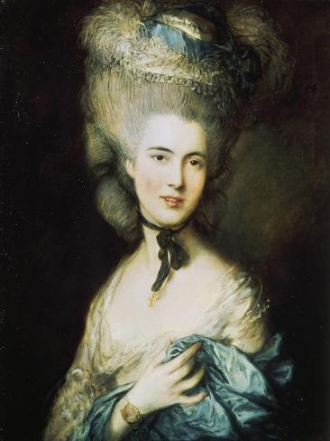 Woman in Blue, Portrait of the Duchess of Beaufort Lámina giclée