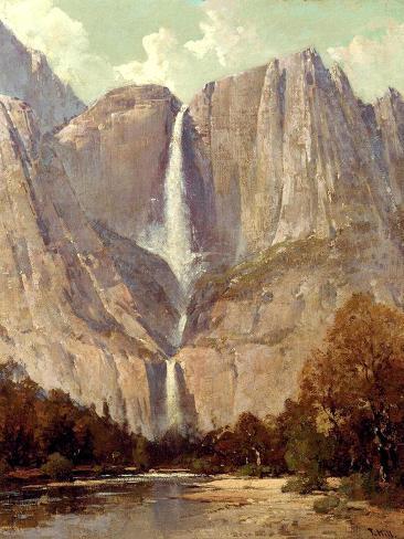Bridalveil Fall, Yosemite Lámina giclée