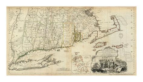 The Provinces of Massachusetts Bay and New Hampshire, Southern, c.1776 Art Print