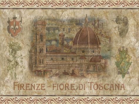 Firenze, Fiore de Toscana Art Print