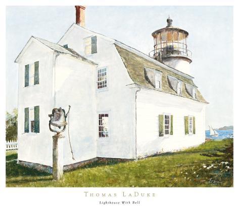 Lighthouse with Bell Art Print