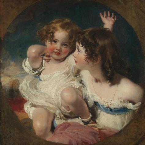 The Calmady Children (Emily, 1818–1906, and Laura Anne, 1820–94), 1823 Lámina giclée