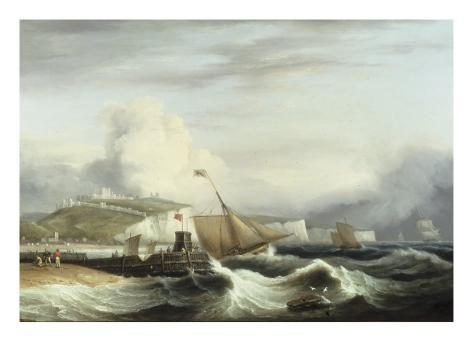 A Cutter and other Shipping off Dover, 1817 Giclee Print