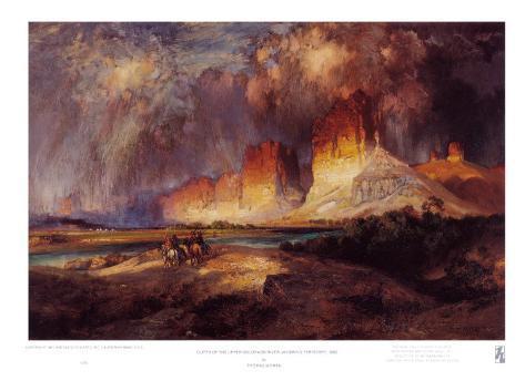 Cliffs of Upper Colorado River Art Print