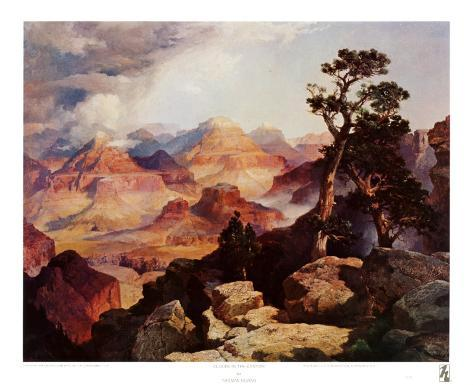 Clouds in the Canyon Art Print