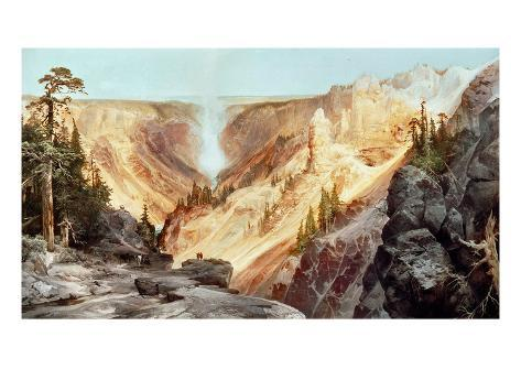 The Grand Canyon of the Yellowstone, 1872 Giclee Print