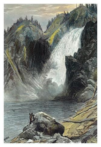 The Upper Yellowstone Falls Art Print