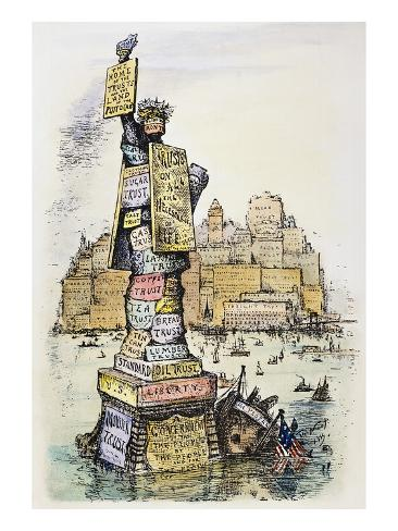 Anti-Trust Cartoon, 1889 Giclee Print