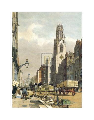 St Dunstan's Fleet Street Art Print