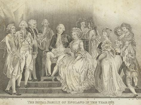 The Royal Family of England in the Year 1787 Lámina giclée