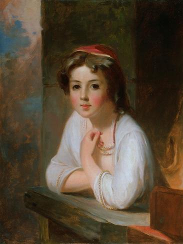 Portrait of a Peasant Girl, 1857 Lámina giclée