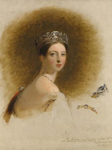 Portrait of Queen Victoria, 1838 Lámina giclée