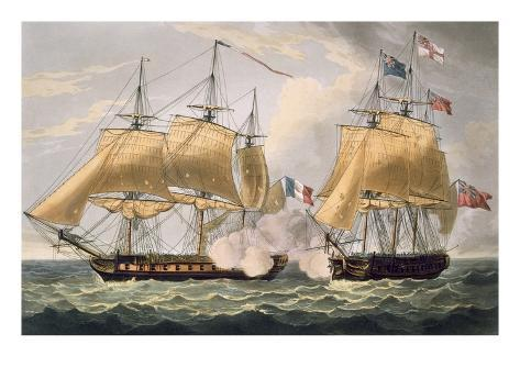 The Capture of La Clorinde, February 26th 1814, Engraved by Thomas Sutherland Giclee Print