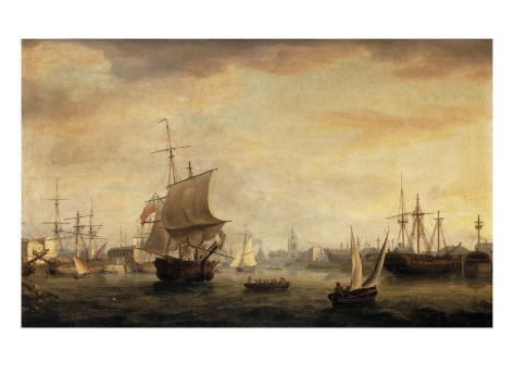 View of Bristol Dock and Quay, 1787 Giclee Print