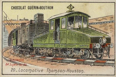 Thomson-Houston Locomotive Stampa giclée