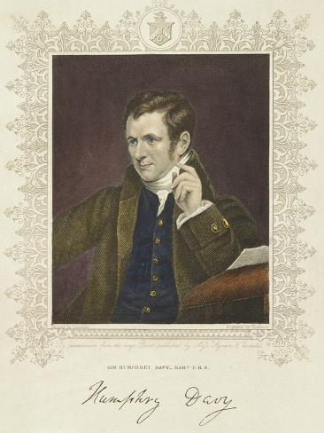 Humphry Davy, British Chemist and Inventor, 1801 Giclee Print
