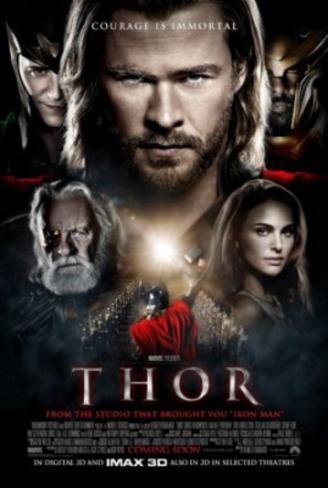Thor (Chris Hemsworth, Natalie Portman, Anthony Hopkins) Movie Poster Poster double face