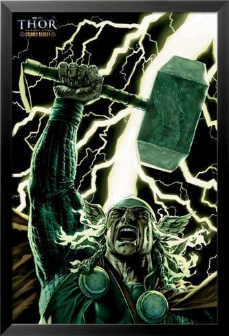 Thor - Comicbook Art Lamina Framed Poster