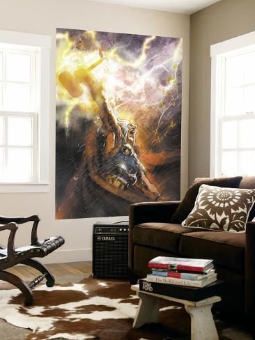 Thor No.75 Cover: Thor Laminated Oversized Art