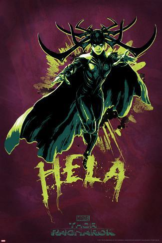 Thor: Ragnarok - Hela Stretched Canvas Print