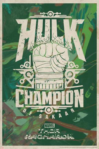 Thor: Ragnarok - Hulk Art Print