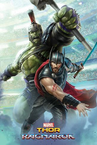 Thor Ragnarok - Thor And Hulk Poster