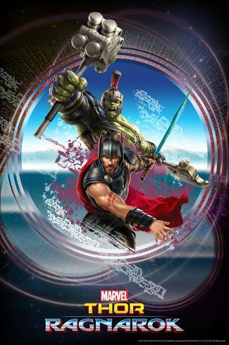 Thor: Ragnarok - Thor, Hulk Póster