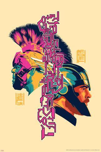 Thor: Ragnarok - Thor, Hulk Art Print