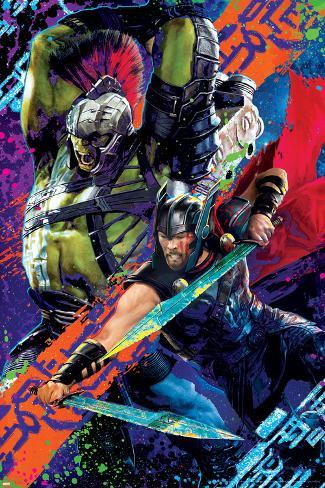 Thor: Ragnarok - Thor, Hulk Poster