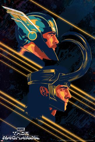 Thor: Ragnarok - Thor, Loki Art Print