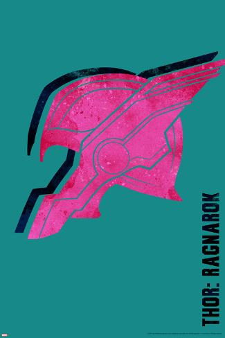 Thor: Ragnarok - Thor's Helmet Stretched Canvas Print