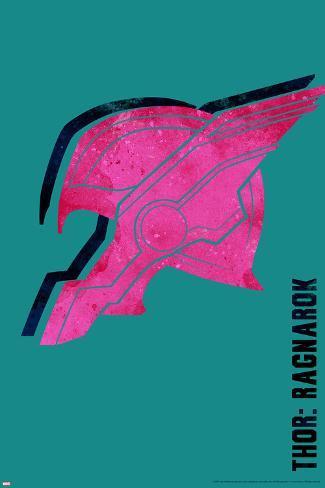 Thor: Ragnarok - Thor's Helmet Art Print