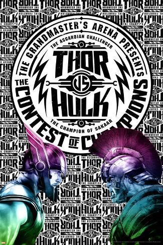Thor: Ragnarok - Thor vs. Hulk Stretched Canvas Print