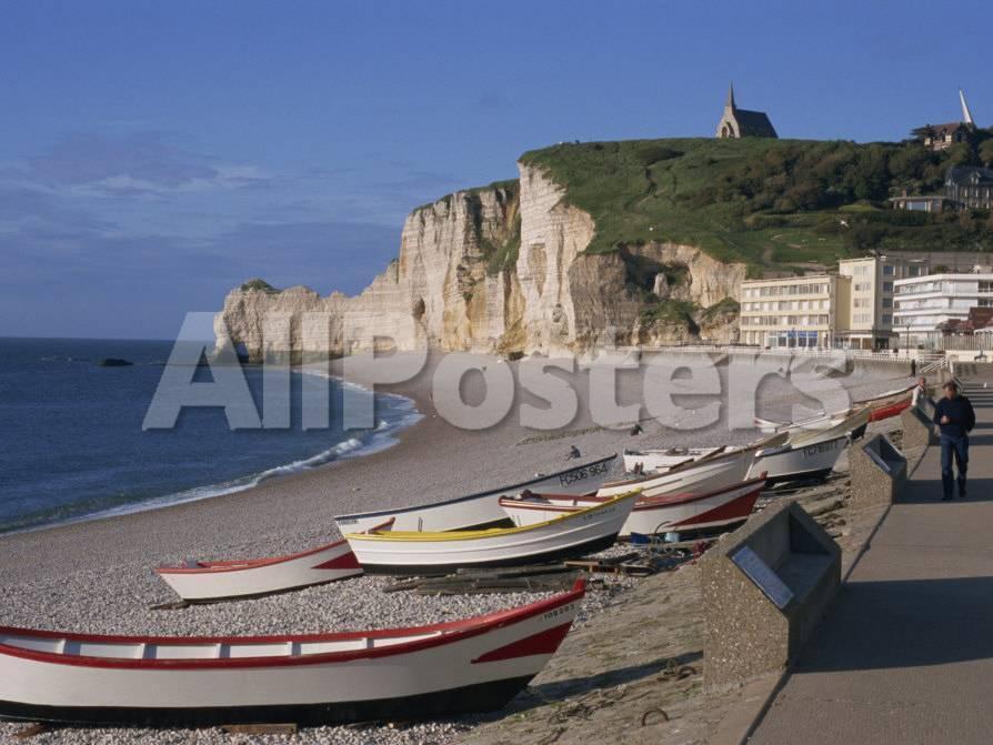 Beach And Falaise D Amont Etretat Cote D Albatre Haute